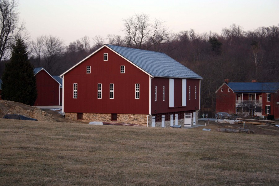 1860 bank barn conversion to woodworking studio for Bank barn plans