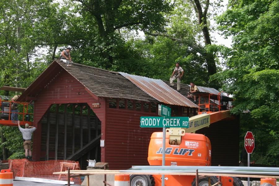 Covered Bridge Restoration Structural Stabilization