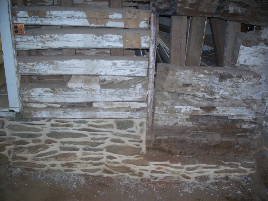 18th Century Farm House Restoration Stone Foundation