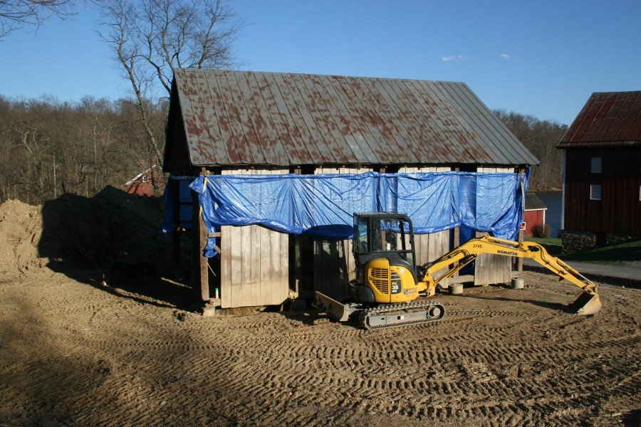 Historic Corn Crib Adaptively Reused for Equipment and Material ...