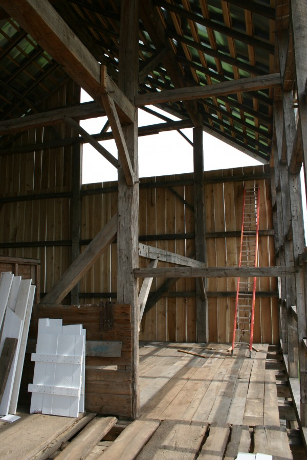 Bank Barn Restoration Timber Frame Masonry Sheet Metal Roof