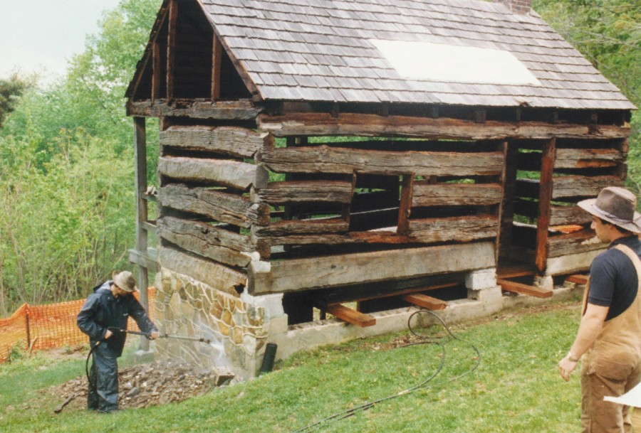New Log Cabin With Historic Clapboards