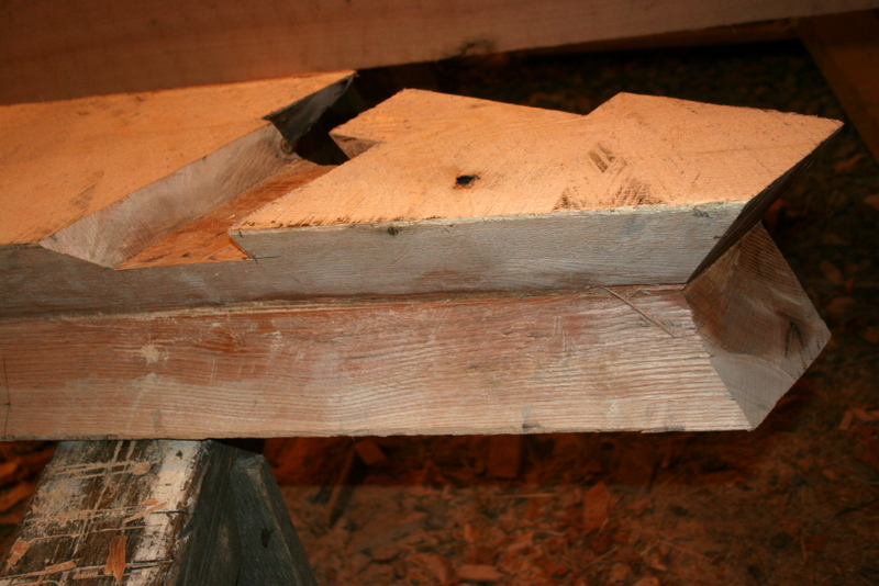 how to cut square timber