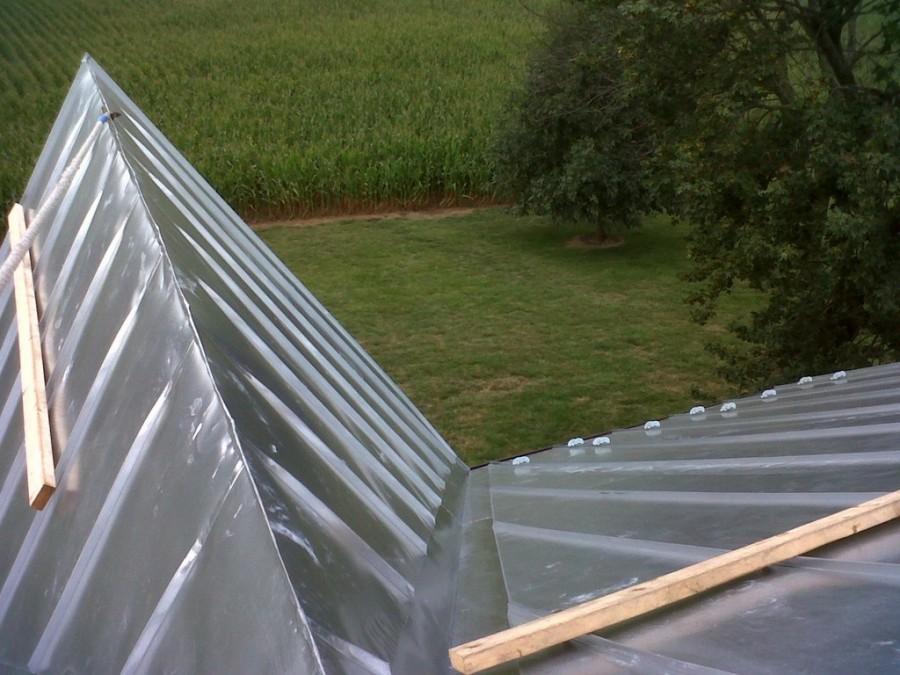 Challenging Standing Seam Roof On Victorian Farm House And