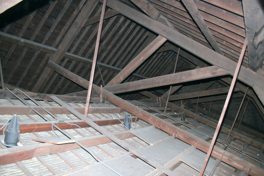 Improvements and repairs in the roof framing of the for Cathedral ceiling trusses