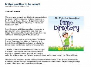 Frederick News Post Article, January 21, 1998.