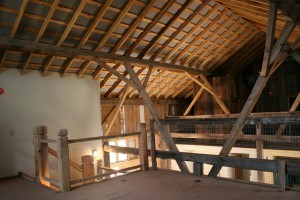 Upper Loft Levals Provide Spacious Living Areas and Bring the Huge Interior Down to a Human Scale