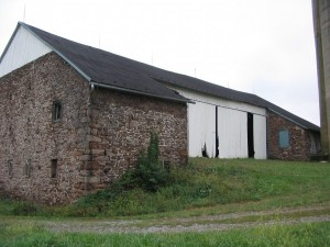 18th Century Bank Barn Before Repairs and Home Conversion -- Barn Bridge Side
