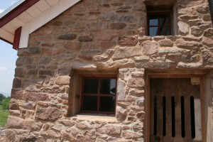 Stonework Repointed -- Custom Door and Windows