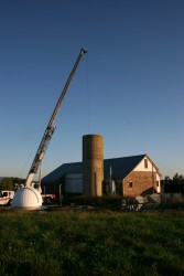Spiral Stairs Are Installed In Silo -- Celestial Observatory Roof Waits to be Installed