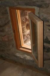 "Custom Milled Casement Window Works With Original ""Arrow Slit"" Ventilator Openings"