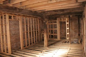 Interior Framing Partitions Installed -- Ready for Wall Surfaces and Flooring