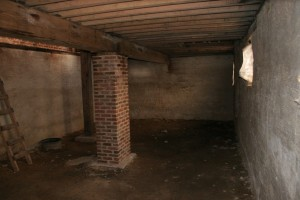 Basement Leval -- Stone Walls Repointed and Parged