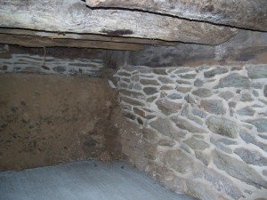 18th Century Farm House Restoration Stone Foundation