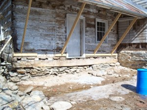 New Sill Log -- Foundation Awaits Repair