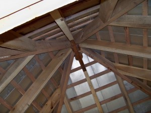 Completed Interior View of Hip Roof Framing