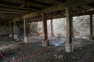 Parlor Posts Set on New Concrete Piers