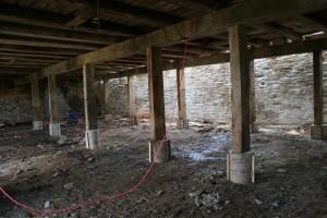 Parlor Posts Set on New Concrete Piers