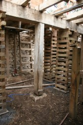 Parlor Level Cribbing to Support Summer Beams And Floor