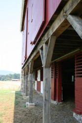 In the Barnyard -- New Doors, Posts, Louvers, and Siding