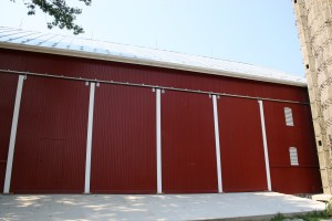 New Barn Bridge Doors and Concrete Apron
