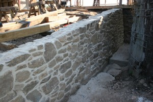 Barn Bridge Wing Wall Relaid and Pointed