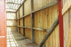 New Siding Interior View of Corn Crib