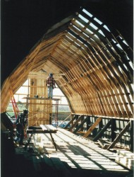 Interior View of Loafing Shed Framing Repairs