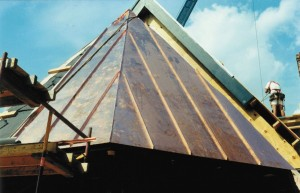 Steeply Pitched Angled Dormer Makes For Challenging Metal Work