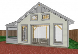 Concept Rendering of Front of Cottage
