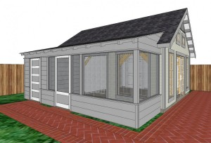 Concept View of Garden Cottage