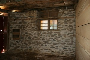 Repointed stone work and new animal stalls.