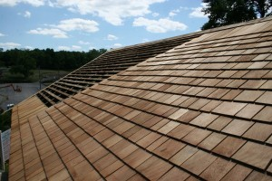 "Beautiful new 24"" Royal Blue Label cedar shingles."