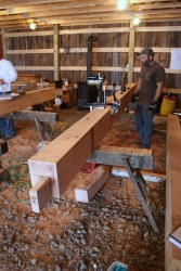 Our crew lays out and cuts each timber based on an individual shop drawing.