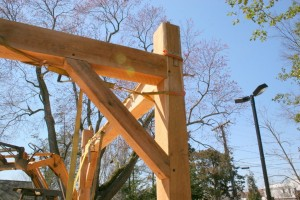 Knee braces are probably the most distinctive feature of timber frame construction.