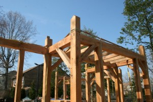 Reverse view of 2nd floor framing.