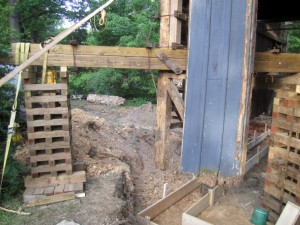 While the barn is in the air, a new foundation is a sound investment.