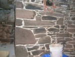 Repointing and Restoration Blue Stone Foundation