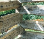 Hand Hewn Logs for Log Cabin