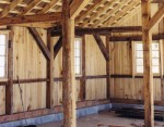 Hand Hewn Timber Frame from Salvaged Wood
