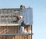 Standing Seam Sheet Metal Barn Roof Installation