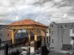 Timberframe Shelter for Rooftop Deck