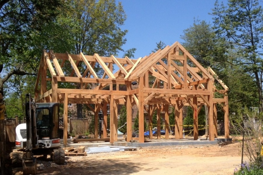 Diy timber frame house construction